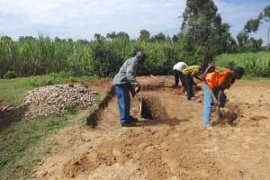 The Water Project: St. Michael Mukongolo Primary School -  Digging And Measuring Latrine Pits