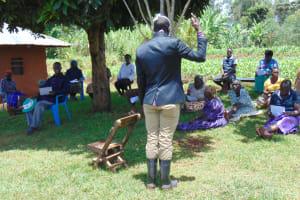 The Water Project: Visiru Community, Kitinga Spring -  Training Session
