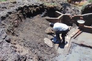 The Water Project: Shikangania Community, Abungana Spring -  Stone Pitching