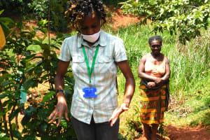 The Water Project: Shikhombero Community, Atondola Spring -  Last Handwashing Step Is Air Drying