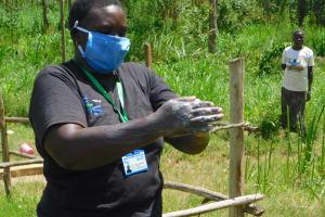 The Water Project: Sichinji Community, Kubai Spring -  Proper Handwashing Demonstration
