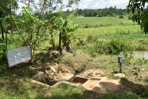 The Water Project: Musango Community, M'muse Spring -  Installed Chart At The Spring
