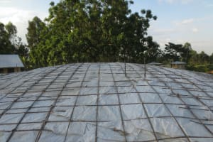 The Water Project: St. Gerald Mayuge Secondary School -  Top Of Dome Wire And Sack Skeleton