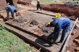 The Water Project: Kapsaoi Primary School -  Latrine Brick Work Over Concrete Foundation