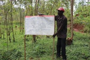 The Water Project: Wanzuma Community, Wanzuma Spring -  Installed Caution Chart Next To The Spring