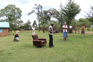 The Water Project: Malava Community, Ndevera Spring -  The Village Elder Putting Emphasis On The Information Passed