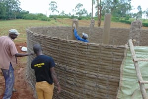 The Water Project: Jinjini Friends Primary School -  Outside Plastering Ongoing