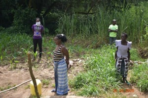 The Water Project: Emukoyani Community, Ombalasi Spring -  Observing Social Distancing
