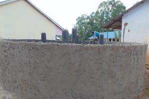The Water Project: Jinjini Friends Primary School -  Outside Plaster Works