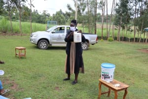 The Water Project: Elukuto Community, Isa Spring -  Construction Of A Leaky Handwashing Tin