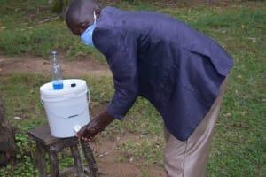 The Water Project: Bukhakunga Community, Ngovilo Spring -  Demonstrating Handwashing