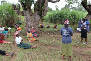 The Water Project: Shitoto Community, William Manga Spring -  Observing Social Distancing At Training