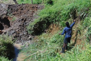 The Water Project: Shikangania Community, Abungana Spring -  Site Clearance