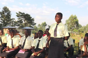 The Water Project: St. Gerald Mayuge Secondary School -  A Student Answers A Question