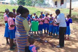 The Water Project: Kapsaoi Primary School -  Facilitator Victor Demonstrates Ten Steps Of Handwashing