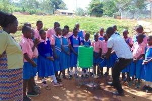 The Water Project: Kapsaoi Primary School -  Facilitator Victor Demonstrates Handwashing