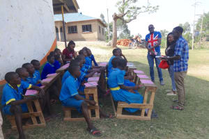 The Water Project: St. Michael Mukongolo Primary School -  Pupils And Facilitators