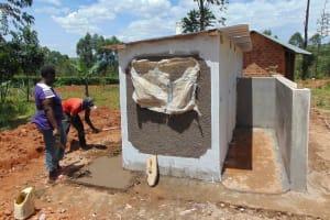 The Water Project: Jinjini Friends Primary School -  Latrine Construction