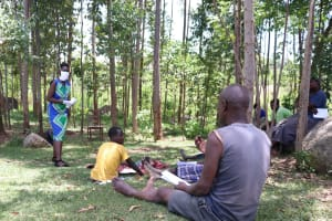 The Water Project: Shirugu Community, Shapaya Mavonga Spring -  A Man Asks A Question Of Trainer Shigali