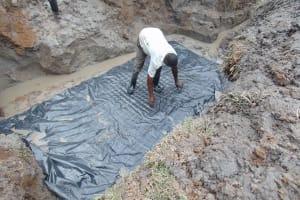The Water Project: Shikangania Community, Abungana Spring -  Setting The Foundation