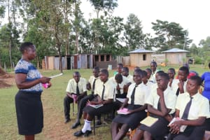 The Water Project: St. Gerald Mayuge Secondary School -  Menstrual Hygiene Management Training