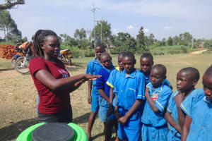 The Water Project: St. Michael Mukongolo Primary School -  Carolyne Demonstrates Handwashing