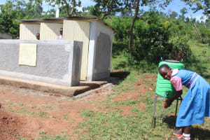The Water Project: Kapsaoi Primary School -  Handwashing After Visiting Toilet