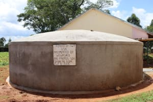 The Water Project: Jinjini Friends Primary School -  Completed Rain Tank