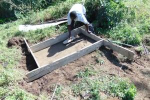 The Water Project: Shikangania Community, Abungana Spring -  Sanitation Platform Construction
