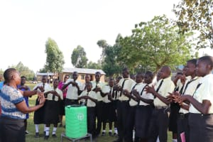 The Water Project: St. Gerald Mayuge Secondary School -  Handwashing Practical