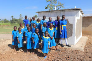 The Water Project: St. Michael Mukongolo Primary School -  The Girls At Their New Latrines