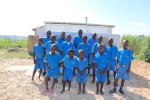 The Water Project: St. Michael Mukongolo Primary School -  The Gents With Big Smiles At Their New Latrines