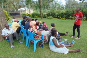 The Water Project: Shikangania Community, Abungana Spring -  Dental Hygiene Training