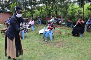 The Water Project: Elukuto Community, Isa Spring -  Handwashing Demonstration