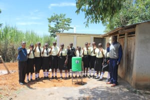 The Water Project: St. Gerald Mayuge Secondary School -  Students And Teachers Celebrate Sanitation Facilities