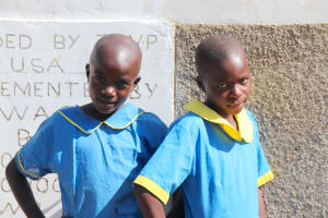 The Water Project: St. Michael Mukongolo Primary School -  Smiles In Front Of New Latrines