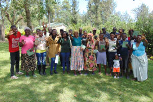 The Water Project: Shikangania Community, Abungana Spring -  Group Picture After Training