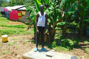 The Water Project: Shikangania Community, Abungana Spring -  New Sanitation Platform Owner