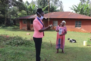 The Water Project: Shirakala Community, Ambani Spring -  Trainer Olivia Training On Handwashing