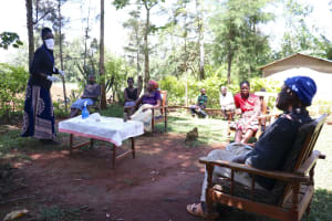 The Water Project: Chegulo Community, Yeni Spring -  Trainer Shigali In Action