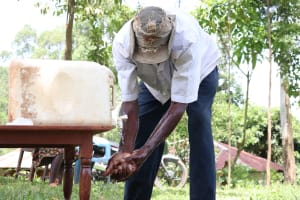The Water Project: Asimuli Community, John Omusembi Spring -  Clean Hands Keep Covid At Bay