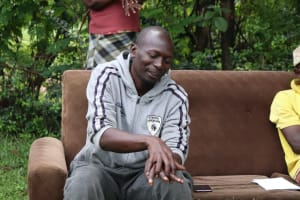 The Water Project: Malava Community, Ndevera Spring -  A Community Member Practicing Handwashing
