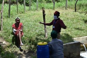 The Water Project: Ingavira Community, Laban Mwanzo Spring -  Illustration Of Air Drying