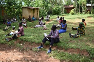 The Water Project: Musango Community, Emufutu Spring -  Social Distancing Observed