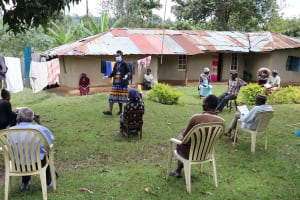 The Water Project: Irungu Community, Irungu Spring -  Social Distancing At The Training