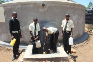 The Water Project: St. Gerald Mayuge Secondary School -  Students Collecting Water