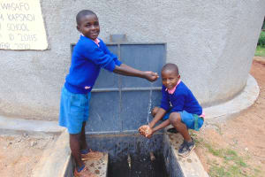 The Water Project: Kapsaoi Primary School -  Pupils Celebrating At Water Point