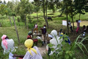 The Water Project: Ingavira Community, Laban Mwanzo Spring -  Participants Follow The Training
