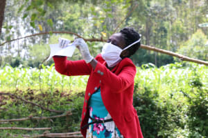 The Water Project: Asimuli Community, John Omusembi Spring -  How To Make A Mask
