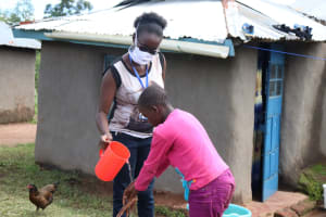 The Water Project: Elutali Community, Obati Spring -  Importance Of Handwashing Highlighted